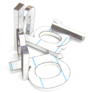 dimensional stainless steel letters