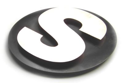 Stainless steel logos