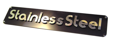 Stainless steel sheet for signs